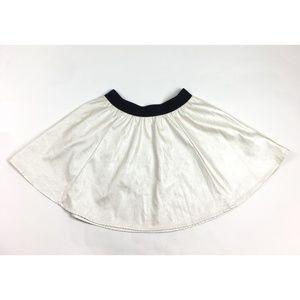 Silence and Noise Womens Flare Mini Skirt Metallic